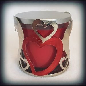 Sonoma Red Candle & Heart Holder 14 oz NWT